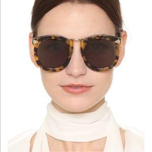 Karen Walker Super Lunar Crazy Tort Sunglasses